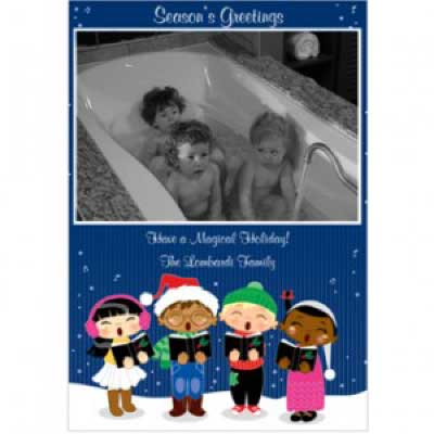 Storkie Bathtub Christmas Cards