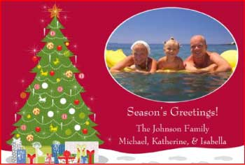 Storkie Summer Fun Christmas Card