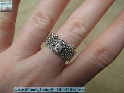 TrendToGo.com Designer Inspired Sterling Silver CZ Somerset Mesh Ring