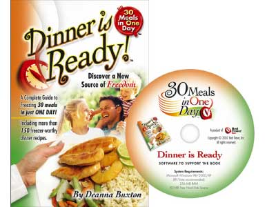 30 Meals in One Day Dinner is Ready Cookbook and Software Combo