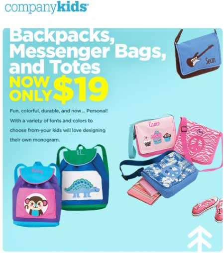 Company Kids Backpack Sale