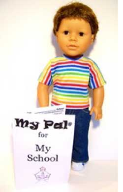 "My Pal for My School Boy 18"" Doll from LorettaRose LLC"
