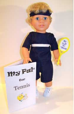 "My Pal for Tennis Boy 18"" Doll from LorettaRose LLC"
