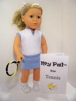 "My Pal for Tennis Girl 18"" Doll from LorettaRose LLC"