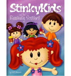 StinkyKids and the Runaway Scissors Book