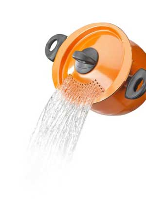 Bialetti Trends Pasta Pot in Orange
