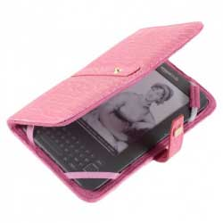CaseCrown Amazon Kindle 3 Flip Case in Alligator Hot Pink