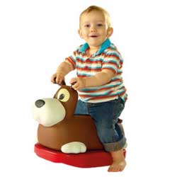 Rock 'n' Rolla Spotty Dog 2-in-1 Rocker and Ride On Toy from Diggin Active