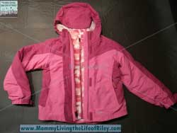 Eddie Bauer Kids Girls' 3-in-1 Snowfoil Jacket in Deep Pink