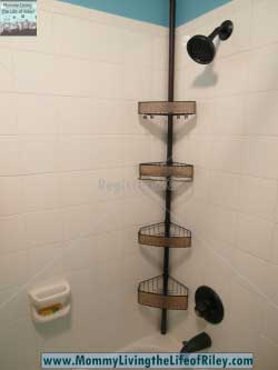 Organize World Rain Tension Shower Caddy in Bronze