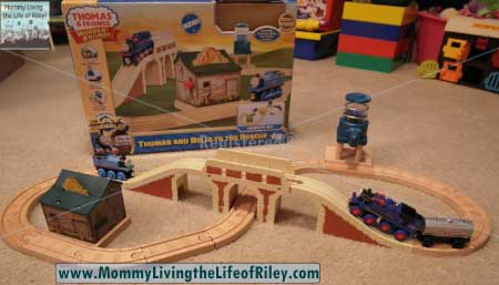 Learning Curve Thomas and Belle to the Rescue Wooden Railway Set