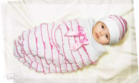 Cozy Cocoon Candy Pink Ruffle Designer Baby Body Socks