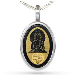 NanoStyle.com Buddha 2 Pendant in Silver