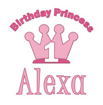 Pipsqueak Boutique Birthday Princess Pink Personalized Girls Shirt