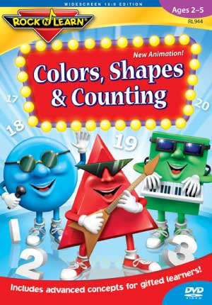 Rock 'N Learn Colors, Shapes & Counting DVD