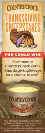 Country Crock Thanksgiving Sweepstakes