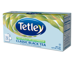 Tetley Tea Naturally Decaffeinated Classic Black Tea