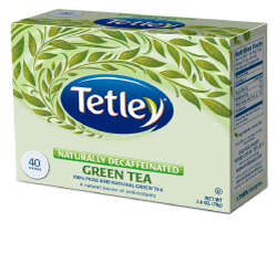Tetley Tea Naturally Decaffeinated Green Tea