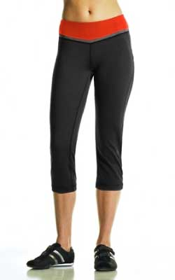 Mondetta Performance Gear Nadir Capri in Black/Tangerine