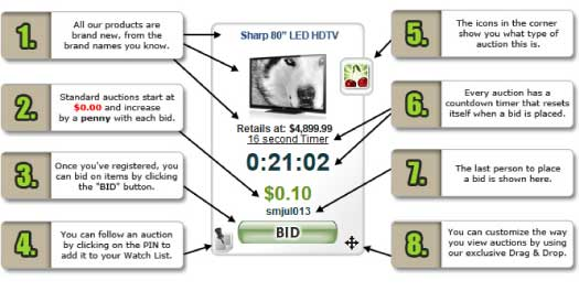 Beezid Online Penny Auction Site