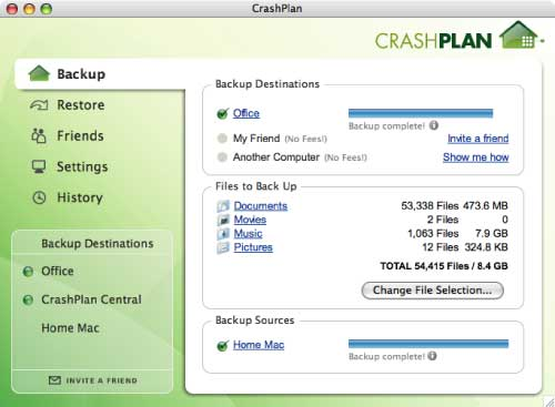 CrashPlan+ Unlimited Online Storage Solution