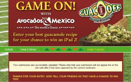 Avocados from Mexico Guac Off Recipe Contest