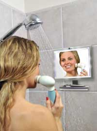 ToiletTree Products Deluxe LED Fogless Shower Mirror