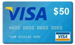 VISA $50 Gift Card