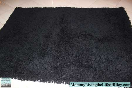 Sweet Peaches Bedding Black Shag Plus Rug