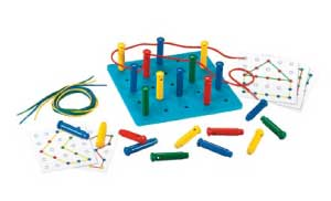 ACE Educational Supplies Stringing Pegs & Pegboard Set