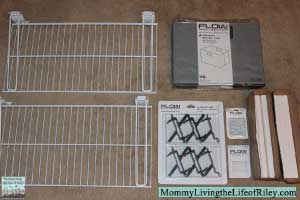 Flow Wall Wire Shelving, Jumbo Storage Bins and X-Hooks