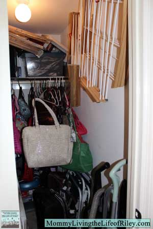 My Hall Closet BEFORE Installing a Flow Wall System