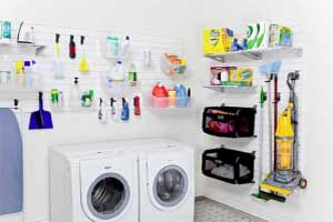 Flow Wall System Laundry Room