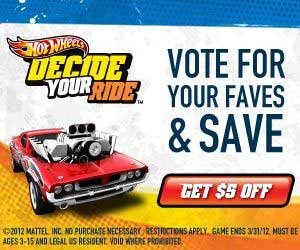Hot Wheels Vote for Your Faves and Save
