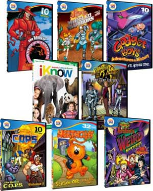 TV Flashbacks Retro Animated Children's DVDs