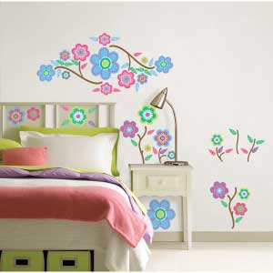 WallPops Cutsie Blooms Wall Decals