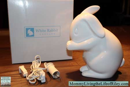White Rabbit England Bone China Rabbit Night Light