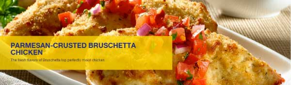 Hellmann's Parmesan Crusted Bruschetta Chicken