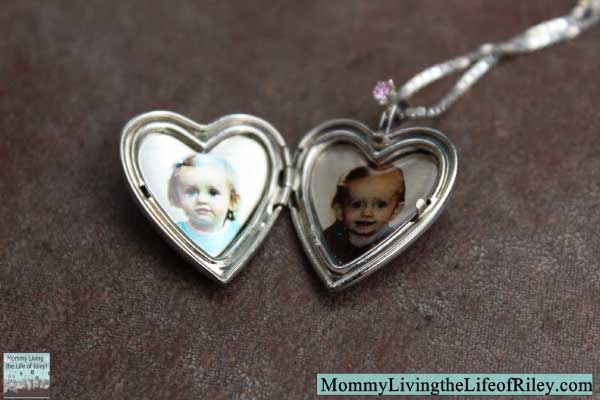 PicturesOnGold.com 2-Photo Sterling Silver Heart Locket with Custom Color Laser Engraving