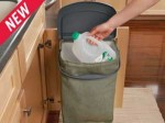 Rubbermaid Hidden Recycler Recycling Bin ~ Collect Recyclables Out of Sight