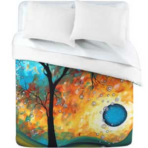 Madart Inc. Aqua Burn Duvet Cover from DENY Designs