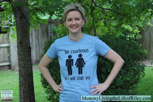 Fibers.com Be Courteous Funny T-Shirt