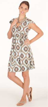 Fresh Produce Cafe Wrap Dress in Fiji