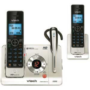 VTech LS6475-3 Two Handset Cordless Answering System with Cordless Headset