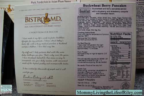 BistroMD Ingredients and Nutrition Information