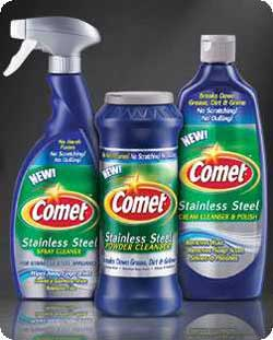 Comet Stainless Steel Cleansers