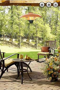 Electric Halogen Hanging Patio Heater