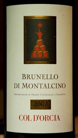 Col d'Orcia Brunello di Montalcino 2007