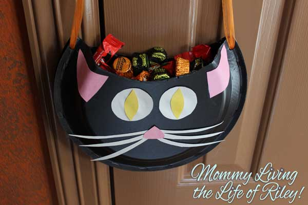 Halloween Paper Crafts Black Cat Candy Holder Tutorial & Halloween Paper Plate Crafts Choice Image - coloring pages adult