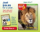 Introducing Ranger Rick Jr. Magazine ~ The Perfect Gift for Younger Animal Lovers